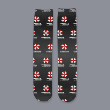 Resident Evil Umbrella Corporation Unisex Subli Tube Socks
